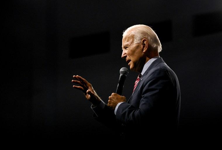 Image: Joe Biden speaks at the Presidential Gun Safety Forum in Las Vegas on Oct. 2, 2019.