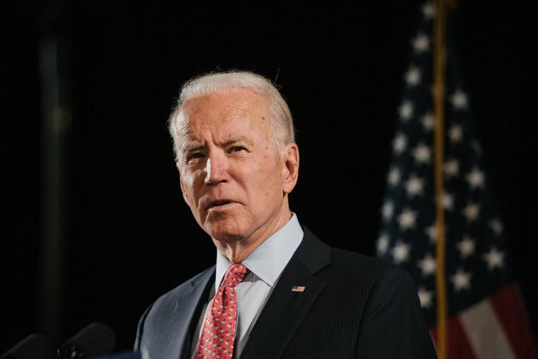 Image: Former Vice President Joe Biden the Democratic Party's presumptive presidential nominee, in Wilmington, Del.