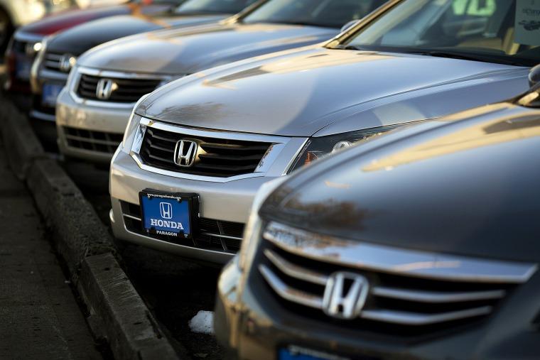 Image: Honda cars at a dealership in Queens, N.Y., in 2012.
