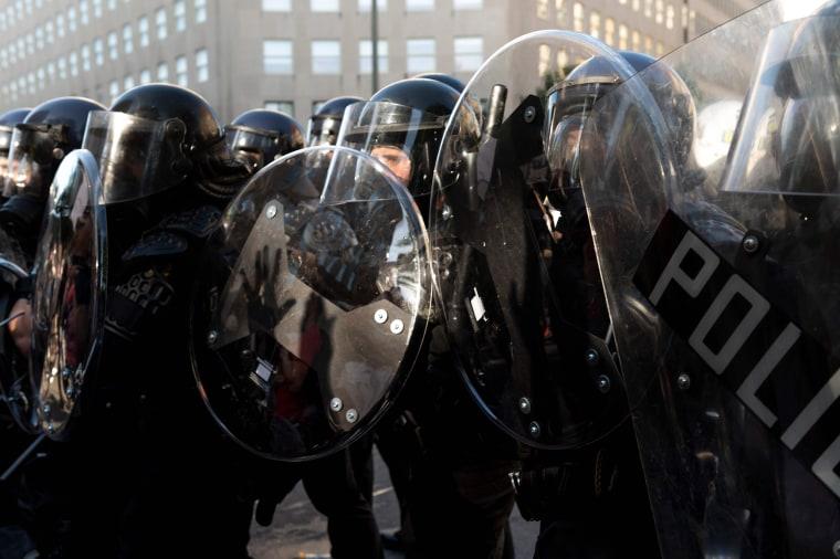 Image: Police riot gear shield