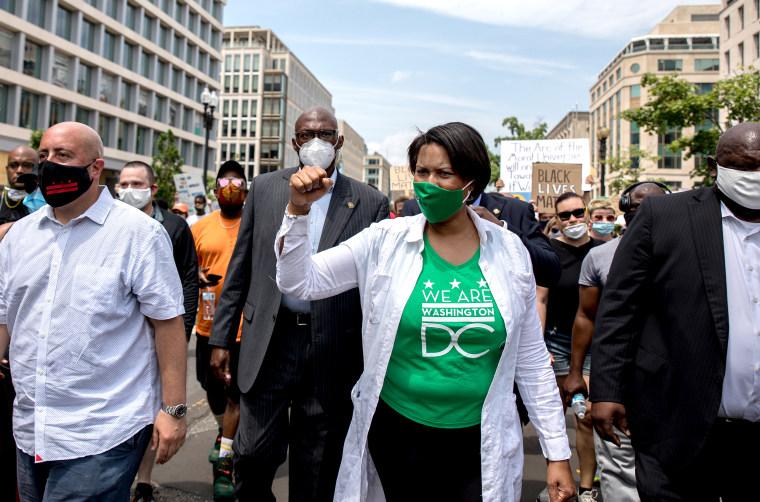WASHINGTON,DC-JUNE6: Mayor Muriel Bowser walks down 16th Street