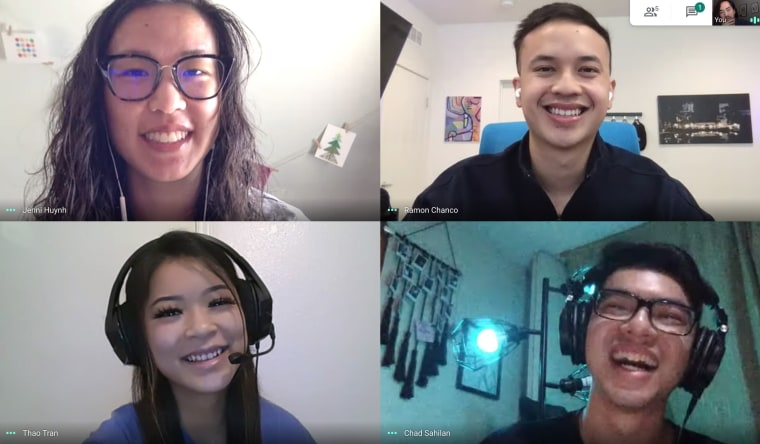 Jenni Huynh, Ramon Chanco, Thao Tran and Chad Dominic Sahilan organized Fresh Off the Vote, a virtual music festival to get young AAPIs to vote ahead of November's elections.