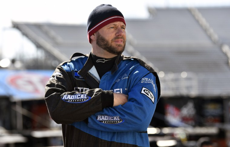 Ray Ciccarell during practice for the NASCAR Gander Outdoors Truck Series TruNorth Global 250 race in Martinsville, Va., on March 22, 2019.