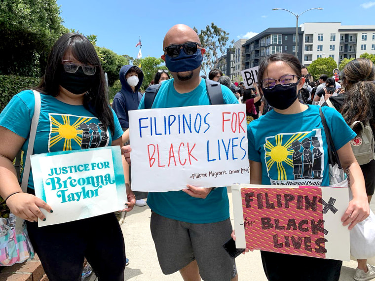 The Filipino Migrant Center was among many Asian American groups that participated in protests in June over the police killing of George Floyd.