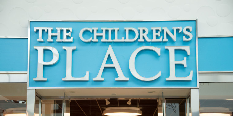 The Children's Place store entrance and signage. They are an