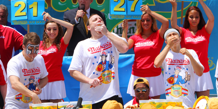 Top Speed Eaters Compete In Nathan's Hot Dog Eating Contest