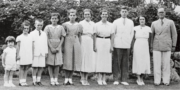 Kennedy Family Standing on Lawn