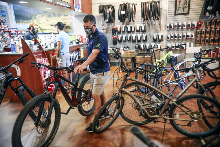 Bicycle Sales Surge With Americans Eager To Get Moving Again