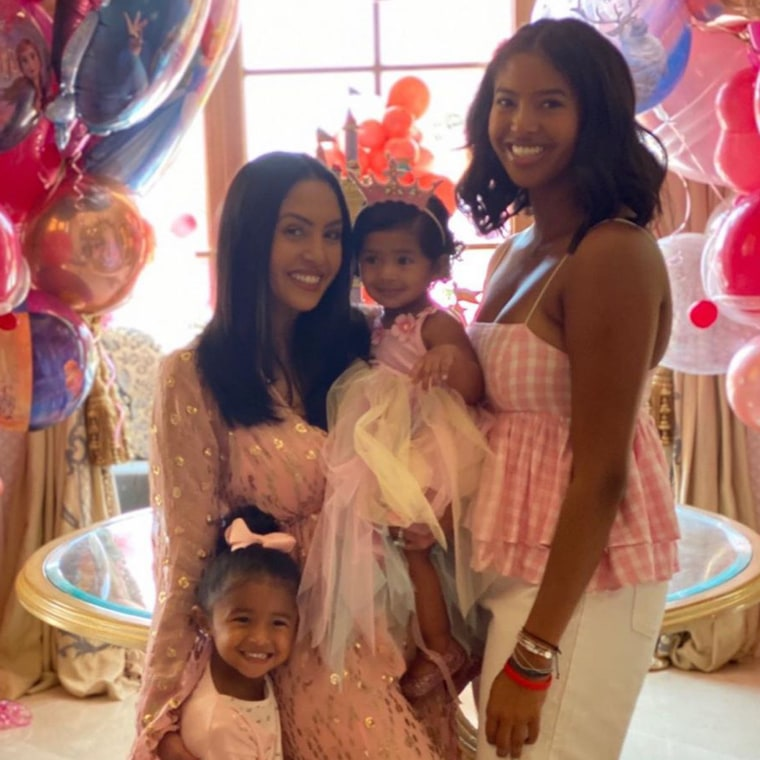 Vanessa Bryant celebrated her youngest daughter Capri's first birthday with the help of her other daughters, Natalia, 17, and Bianka, 3.