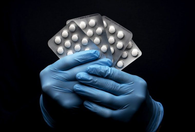 Image: Hydroxychloroquine sulfate tablets in London on March 26, 2020.