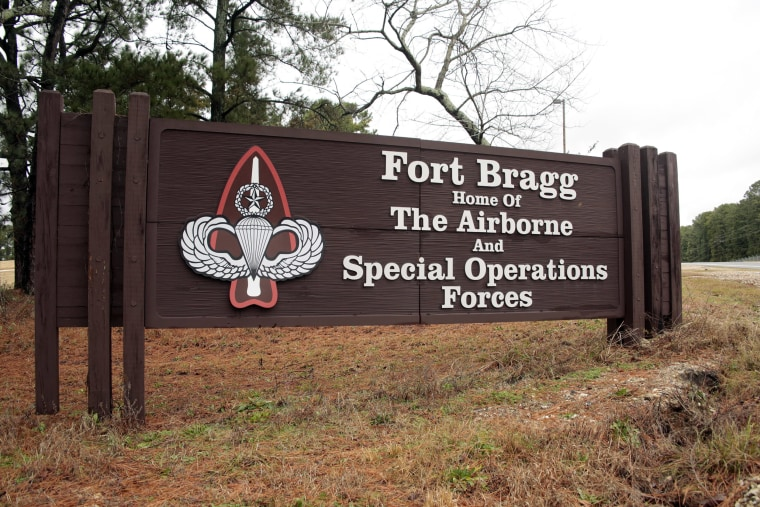 Image: The entrance to Fort Bragg, N.C.
