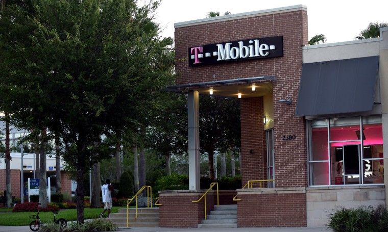 A T-Mobile store is seen in Orlando, Florida as the third