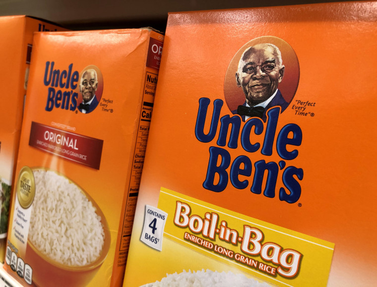 Image: Boxes of Uncle Ben's rice at a store on June 17, 2020 in San Anselmo, Calif.