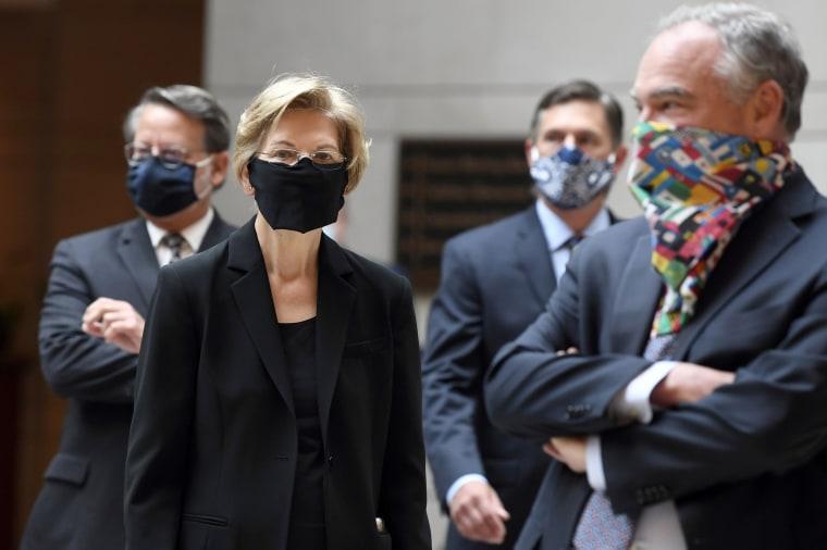 Image: Gary Peters, Elizabeth Warren, Martin Heinrich, Tim Kaine