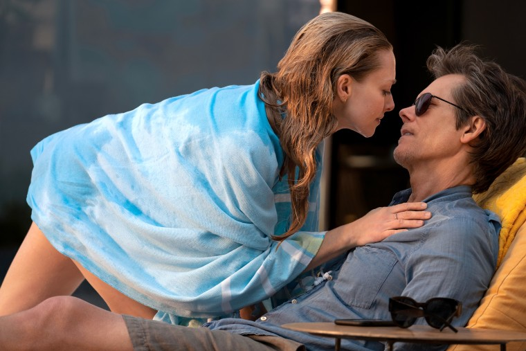 """Susanna Conroy played by Amanda Seyfried and Theo Conroy played by Kevin Bacon in """"You Should Have Left,"""" written and directed by David Koepp."""