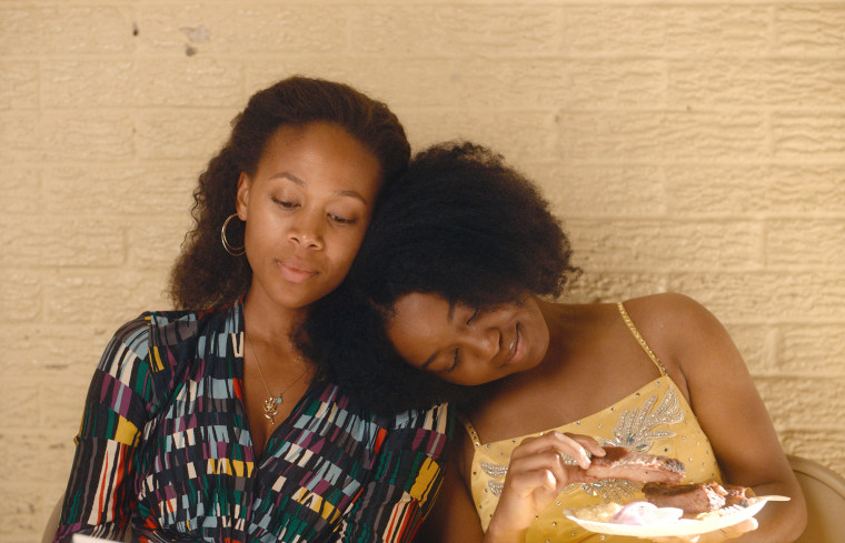 "Nicole Beharie, left, and Alexis Chikaeze in ""Miss Juneteenth."""