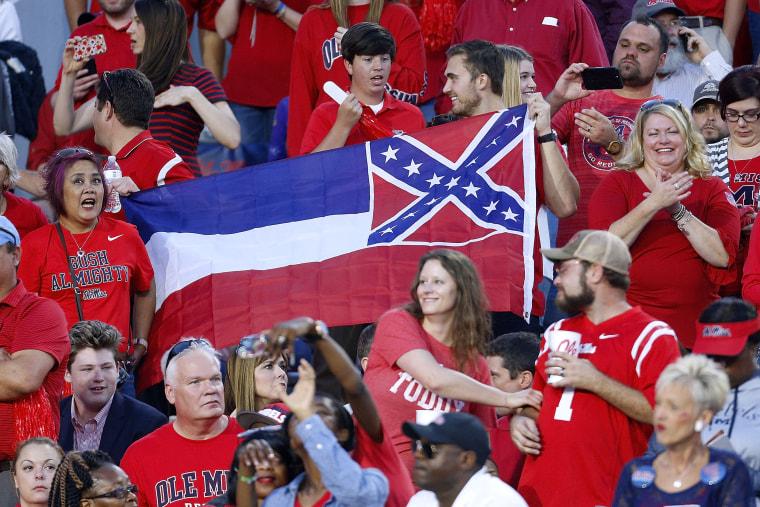 Image: state flag, LSU v Mississippi