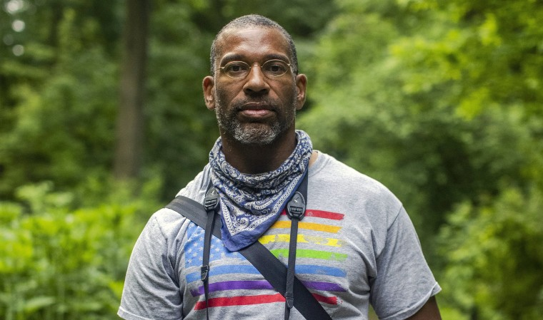 Image: Christian Cooper in New York's Central Park on Wednesday, May 27, 2020.  (Brittainy Newman/The New York Times)
