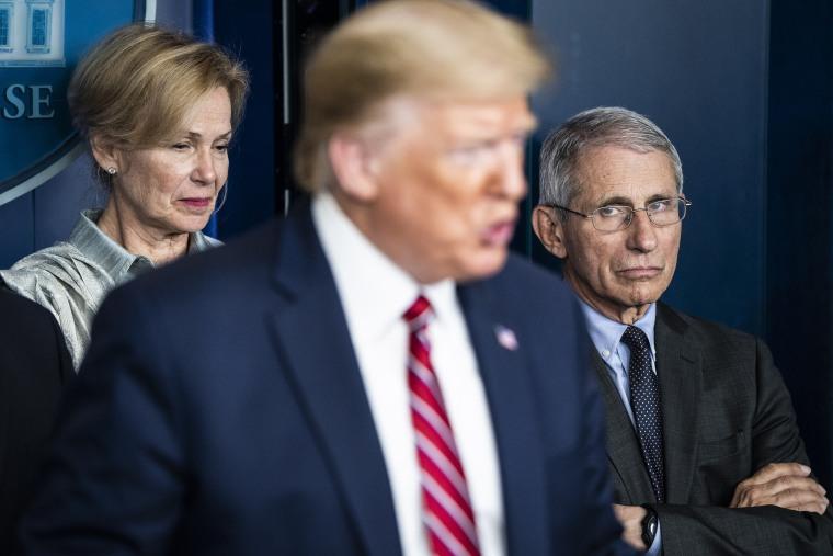 Birx, Fauci, Trump