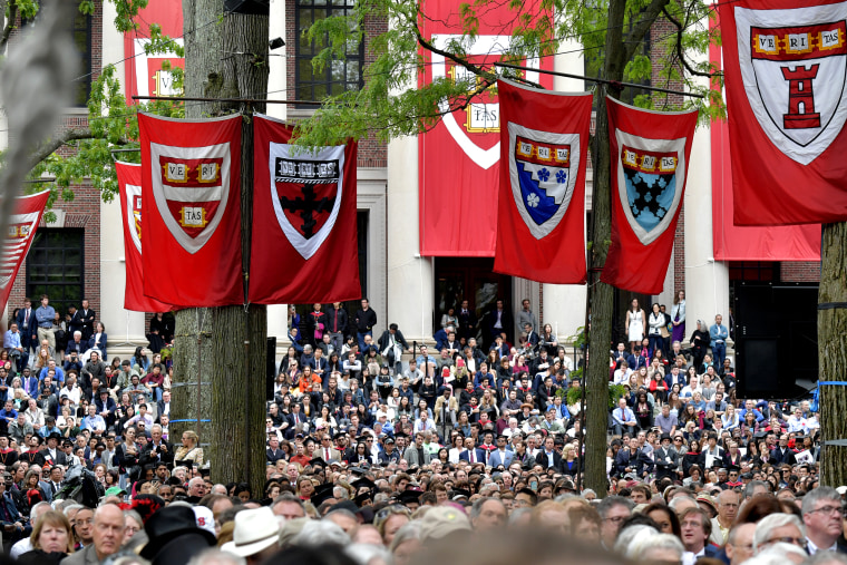German Chancellor Angela Merkel Speaks At Harvard Commencement