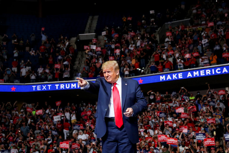 Image: President Donald Trump arrives for a campaign rally in Tulsa, Okla., on June 20, 2020.