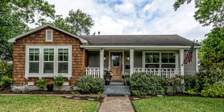 "This cottage in Waco, Texas is also known as the ""Baker House"" or ""Baker Bungalow,"" and is named after its previous owner, Patti Baker."