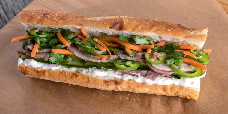 Jet Tila's Vietnamese Banh Mi Sandwich