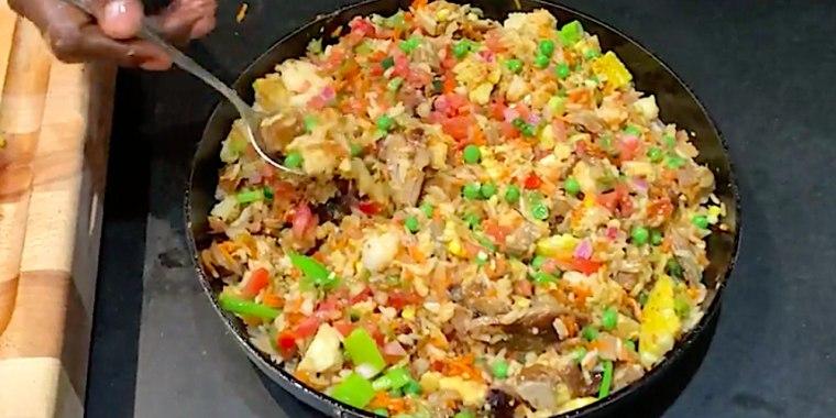 Pork Rib Fried Rice
