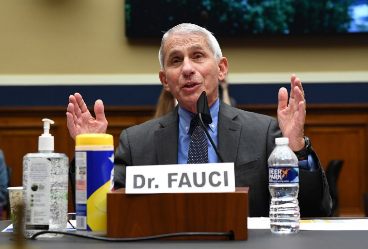 Image: Dr. Anthony Fauci, director of the National Institute of Allergy and Infectious Diseases, testifies at a hearing of the U.S. House Committee on Energy and Commerce on Capitol Hil
