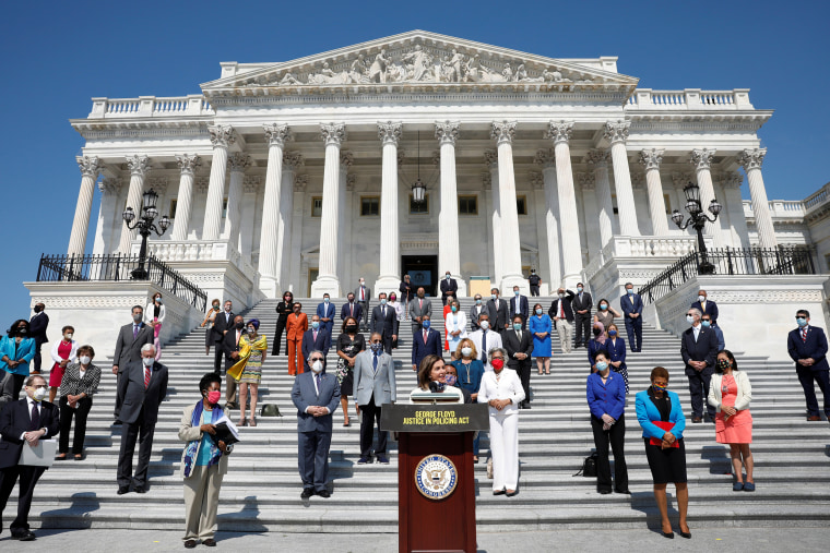 Image: House Democrats gather ahead of vote on the George Floyd Justice in Policing Act in Washington