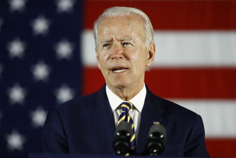 Former Vice President Joe Biden speaks in Darby, Pa., on June 17, 2020.