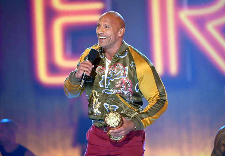 Dwayne Johnson accepts the MTV Generation Award during the 2019 MTV Movie and TV Awards in Santa Monica, Calif., on June 15, 2019.