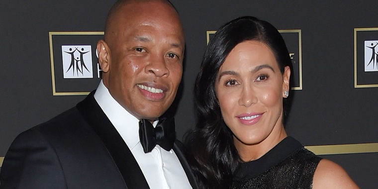 Dr Dre and his wife Nicole Young