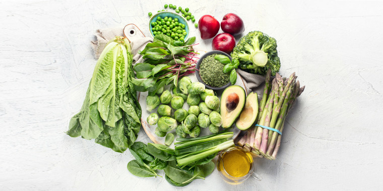 Most people get vitamin K from plants, especially green vegetables.