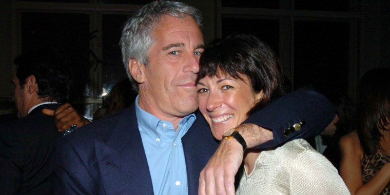 Jeffrey Epstein and Ghislaine Maxwell in New York City in 2005.
