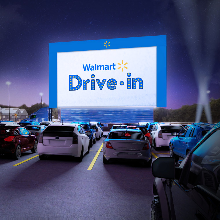 Walmart parking lots will host families for contact-free drive-in movies.