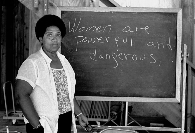 Image: Caribbean-American writer, poet and activist Audre Lorde