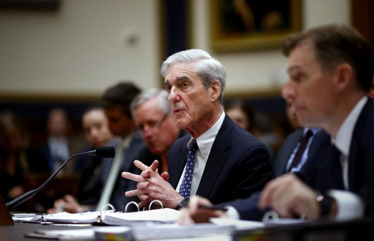 Image: Robert Mueller, former special counsel for the U.S. Department of Justice, speaks during a House Judiciary Committee hearing on July 24, 2019.