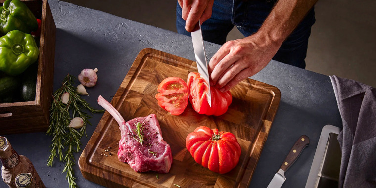 """""""For most households,"""" the three knives that will """"do the trick"""" are a chef's knife, a paring knife and a serrated knife, says chef Dennis Prescott, co-host of Restaurants on the Edge and author of """"Eat Delicious."""""""