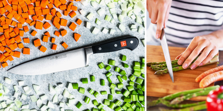 The high-quality Wusthof Classic Chef's Knife is made of carbon stainless steel and is top-rated on Amazon.