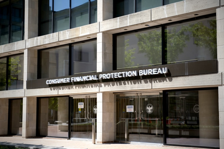 The Consumer Financial Protection Bureau (CFPB) in Washington, D.C., on May 2, 2020.