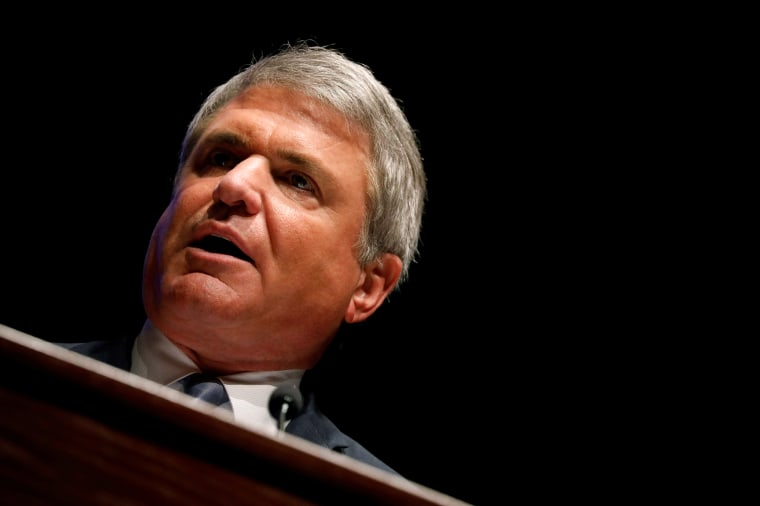 Image: Rep. Michael McCaul (R-TX) speaks at the Capitol Hill National Security Forum at the U.S. Capitol in Washington