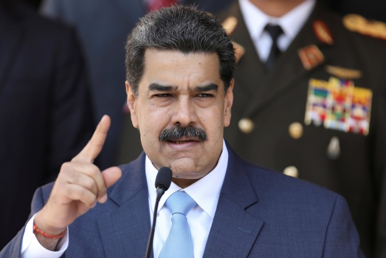 Image: Venezuela's President Nicolas Maduro speaks during a news conference at Miraflores Palace in Caracas, Venezuela