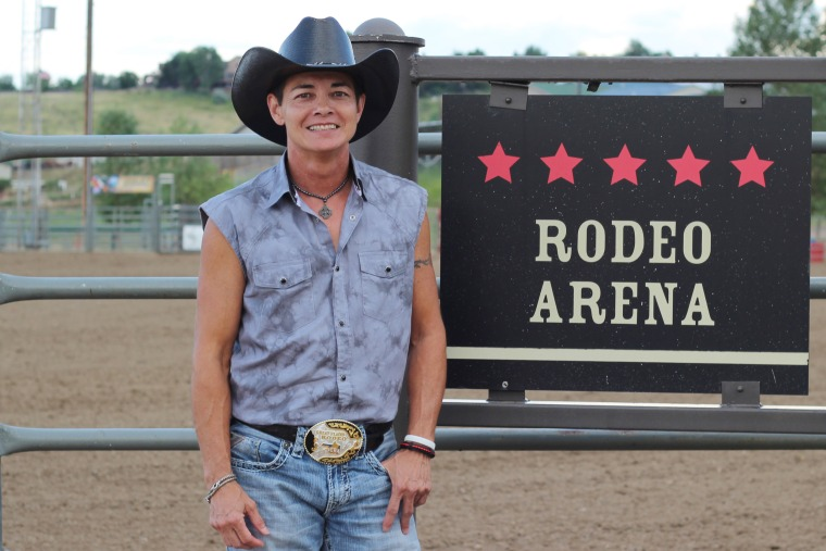 Kody Kay at the Colorado Gay Rodeo in Golden, Co., in July 2014.