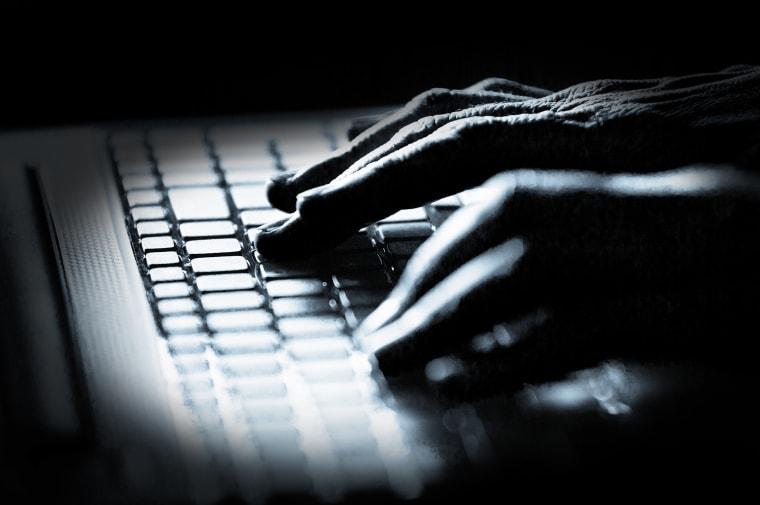 Image: computer hacker