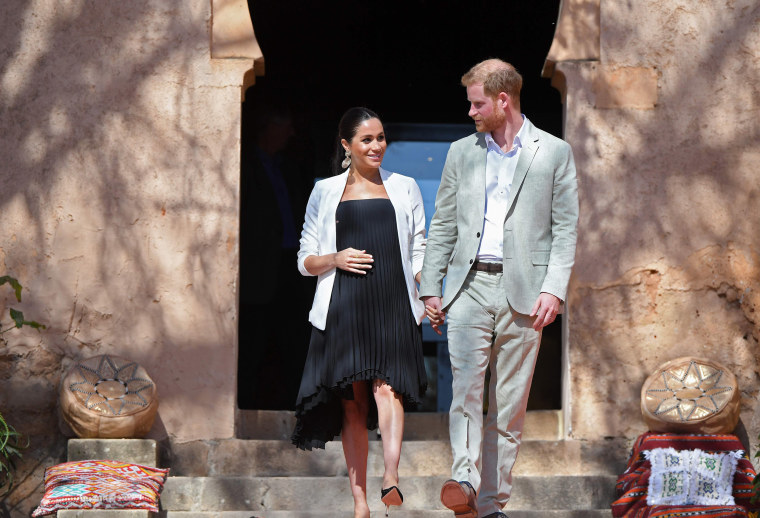Image: Prince Harry and his wife Meghan, Duke & Duchess of Sussex, visit the Kasbah of the Udayas near the Moroccan capital Rabat