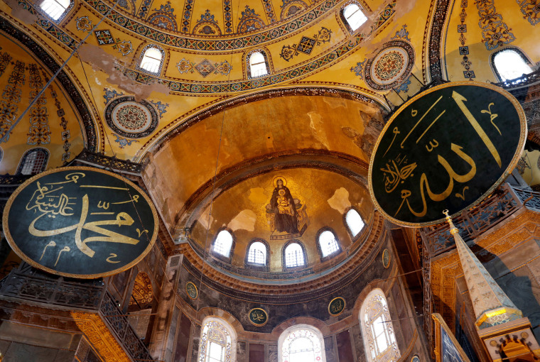 Image: Hagia Sophia or Ayasofya, a UNESCO World Heritage Site, which was a Byzantine cathedral before being converted into a mosque and is now a museum in Istanbul, Turkey