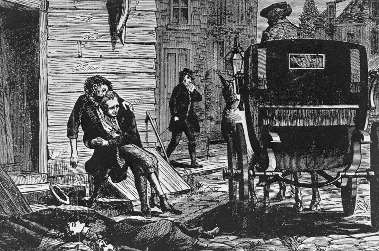 Man Helping Sick Person