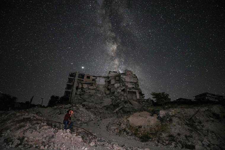 Image: TOPSHOT-SYRIA-CONFLICT-ASTRONOMY