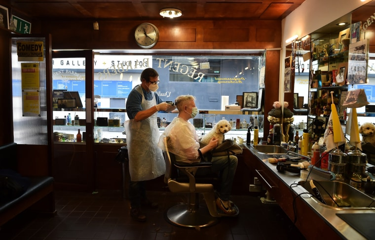 Image: Pubs, Barbers And Other Shops Reopen In Dublin